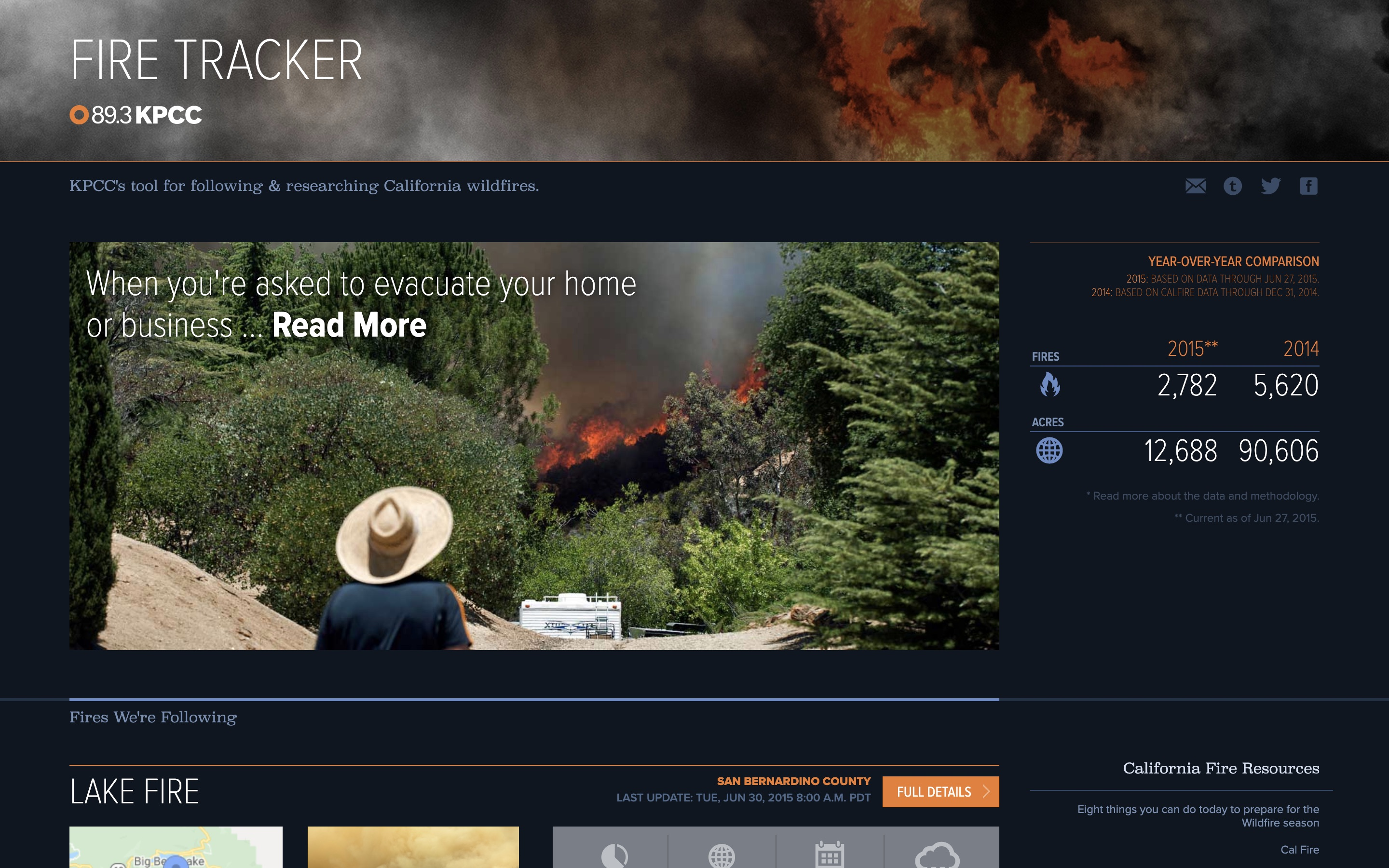 Fire Tracker Homepage